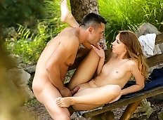 Kira Thorn takes a trip around the garden with a healthy spank from her boyfriend Renato. Soon though,...
