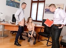Natasha and Chad start getting down with it in the office and Toby walks right in! Not to worry, he can...