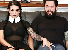 In this adult Wednesday Addams sex fantasy, Katrina Jade features as your favorite creepy goth girl! Today,...